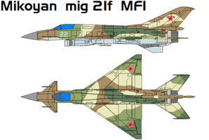 Mikoyan mig 21f  MFI by bagera3005