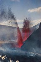 eruption on eyjafjallajokull 2 by icelander66
