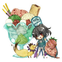 AoH: Azu Ice Cream Menu - Kai by Fortranica