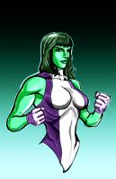 She Hulk by *thelearningcurv by toziren