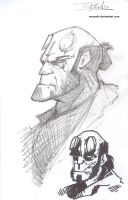 Hellboy Sketches by NexusDX