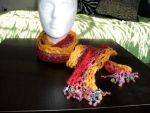 Mariah Scarf and Belt - Red by getmetogradschool
