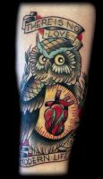 Owl tattoo by Hopeandglorytattoo