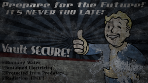Fallout: Vault Boy Billboard Wallpaper by Birdie94jb