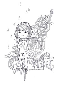 me in lineart world by Psy20XX