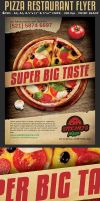 Pizza Restaurant Advertising Flyer Template by Hotpindesigns