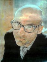 An old Moby colored pencil portrait by ghosthorror
