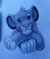 Young Simba by LillieWolf