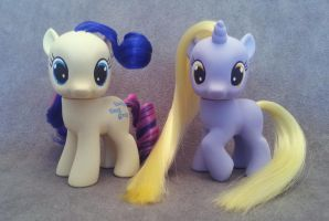 MLP: FiM - Sweetie Drops and Dinky - custom ponies by hannaliten