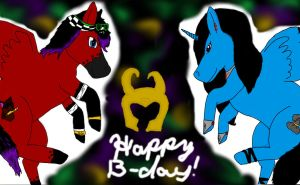 Happy Birthday Red Rum! by ExplodingBlossom