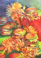 Cheeseburgers and Fries by Poj5