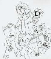 Draco-Ryo and Co. by BlueIke