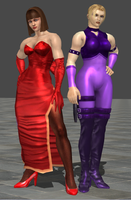 Tekken Tag Tournament - Williams Sisters by iheartibuki
