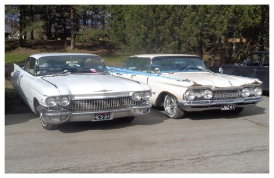 1960 Cadillac and 1959 Oldsmobile 98 by Berlioz-II
