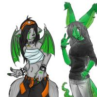 Chi and Leachy-OC by lil-creeper