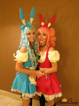 Plusle and Minun Cosplay from Pokemon Series by AurumCosplay
