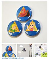 Zelda: Triforce Magnet Set by artshell
