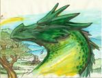 watercolor Dragon2 by lroyburch