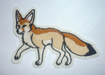 Custom fennec fox embroidery by goiku