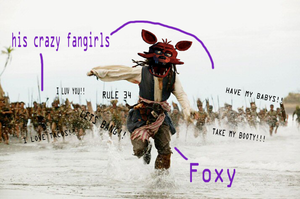 Foxy and his Fangirls by longlostlive