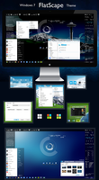 FlatScape Theme for Windows 7 by OafishBub