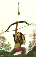Archery woman by Faezza
