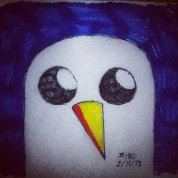 Napkin Art 130 - Gunter - Adventure Time by PeterParkerPA