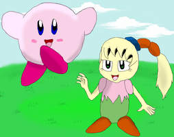 Kirby and Tiff by KendraTheShinyEevee