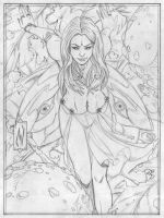 sungoddess - pencils by MatthewWarlick