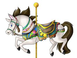 Carousel Horse Meder color by KM-cowgirl