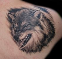 wolf tattoo by Daksi