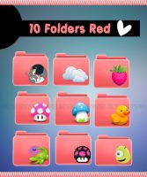 10 Red Folders :3 by MeluuEditions