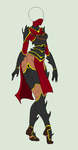 Outfit Adopt - Dark Warrior - SOLD by ShadowInkAdopts