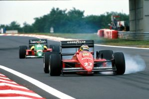 Michele Alboreto | Thierry Boutsen (Hungary 1888) by F1-history
