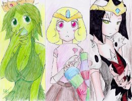 Animu Bookmark Time: OC Princesses by hewhowalksdeath
