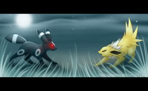 Umbreon vs Jolteon by Nyaasu