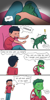 Damian and Beast Boy cont. by OtterTheAuthor