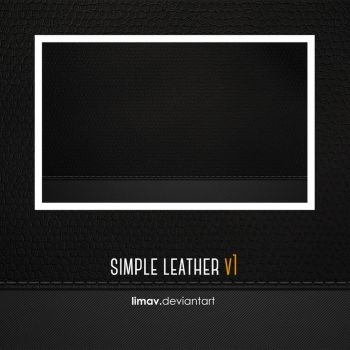 Simple Leather V1 Wallpaper by limav
