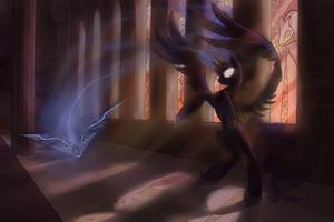 Ilustration~ Shadows over Equestria by Mao-Ookaneko