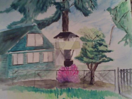 River Grove tree house (2014) by ladywillowpdx