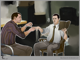 Inception FanArt:Arthur+Eames2 by Shin-ichi