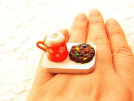 Hot Chocolate Cookie Ring by souzoucreations