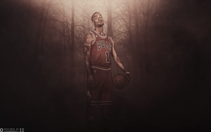 Derrick Rose Wallpaper by GibsonGraphics