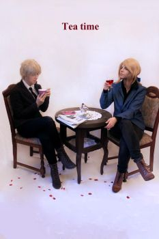Hetalia Fruk + Tea Time by PinkFluffyKitchicorn