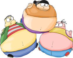 Ed, Edd n Eddy inflated by JuacoProductionsArts