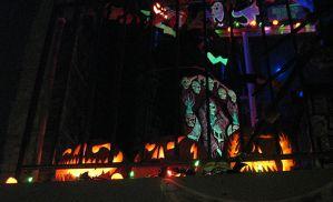 Halloween 2009 Patio Display 6 by EVysther