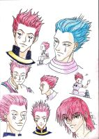 hisoka sketches by DJesterS