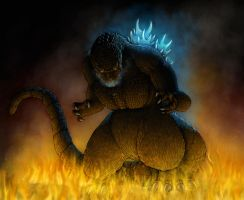 Godzilla 2012 (Large) by Paul-Romero
