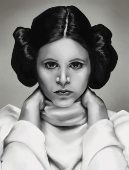 Carrie Fisher by MeaT-Artworx
