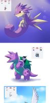 Pokemon fusions by Apricotil
